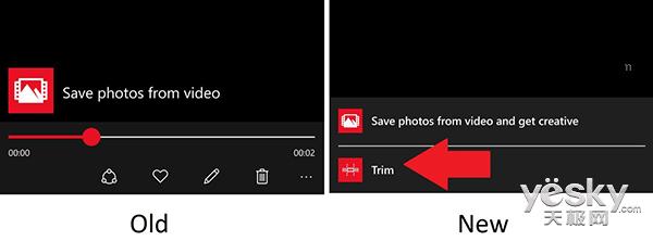 Win10 Mobile照片应用更新 增视频修剪功能