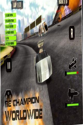 3D黑暗赛车截图2