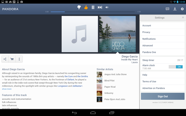 Pandora Radio截图1