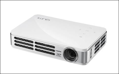 图二:Vivitek(丽讯)微投QUMI Q4可投射出90英寸大画面