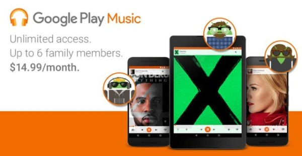 Google Play Music家庭计划正式上线