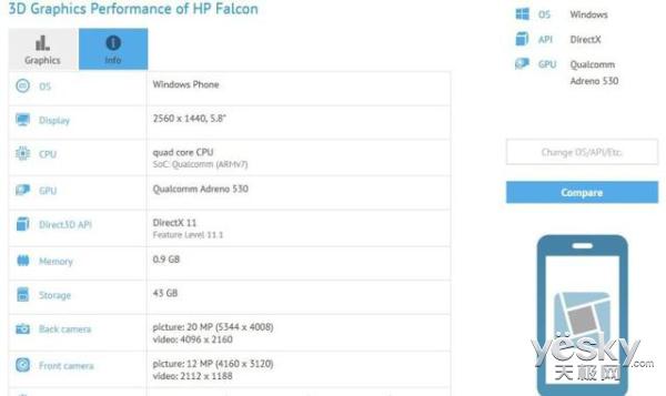 惠普Win10旗舰Falcon现身 2K显示屏+骁龙820