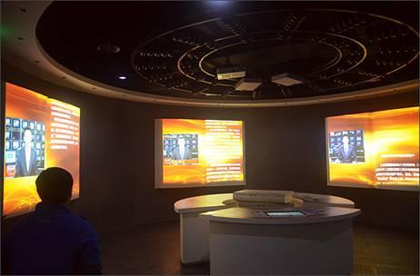 索尼工程投影机案例探访成都某纺织企业水利展厅logov工程图片