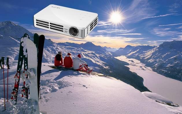图一:Vivitek(丽讯)微投QUMI Q4冬季旅游必备娱乐神器