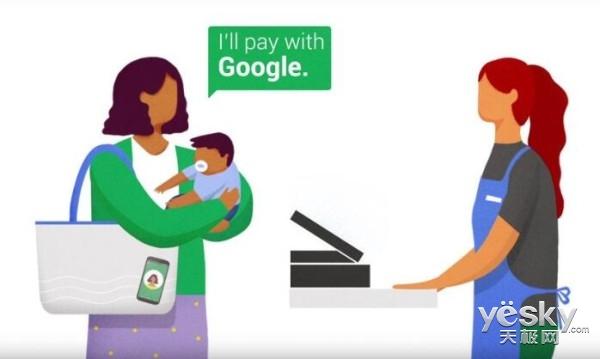 """谷歌推出""""Hands Free""""支付功能 刷脸即可"""