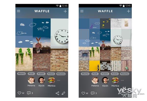 三星推出安卓版移动图片社交应用Waffle