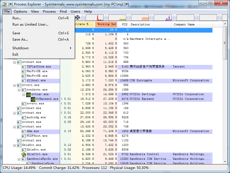Process Explorer截图3