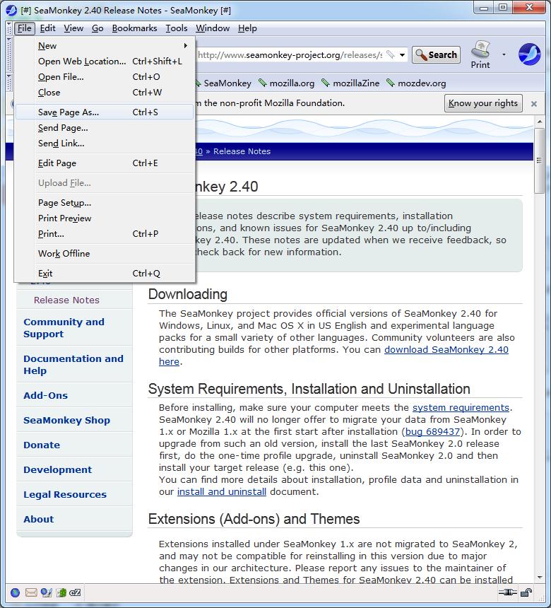 Mozilla SeaMonkey截图3