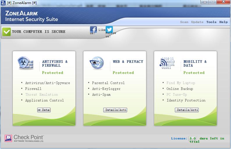 ZoneAlarm Security Suite截图4
