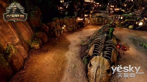 下骸骨大的囹�a_地表的大型骸骨提醒着过往的海盗,这里曾发生恐怖的战斗.
