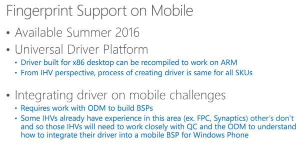 Windows 10 Mobile确认支持指纹识别功能