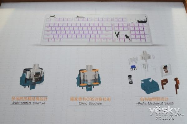 Computex2016 i-Rocks展出静电容自有轴产品