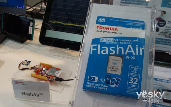 东芝32GB FlashAir SD存储卡亮相MWCS2016