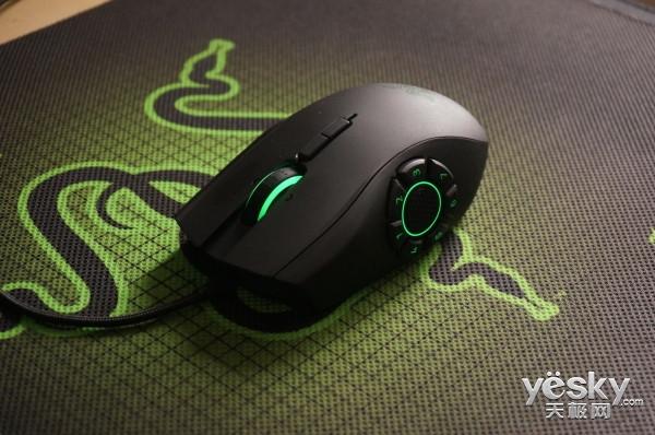 拨盘式侧键 Razer那伽梵蛇六芒星V2鼠标评测