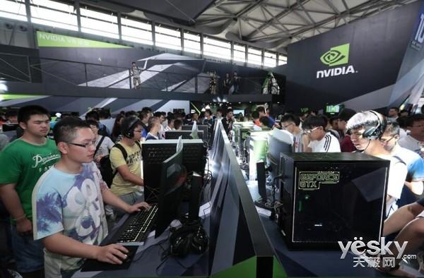 尽享游戏走进ChinaJoy NVIDIA展馆