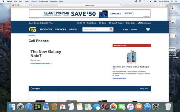 三星Note 7明日发布 电商抢先放出预订页面