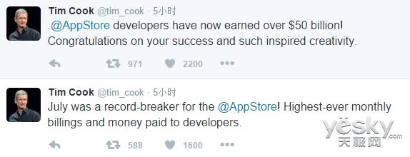 苹果App Store太赚钱了:开发者获利超500亿
