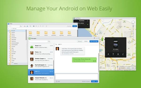 AirDroid浏览器管理手机截图1