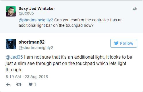 索尼超薄版PS4手柄曝光 改进LED发光条