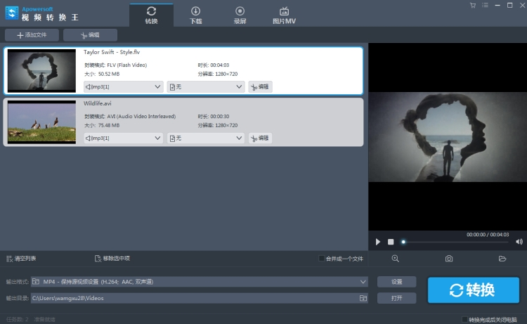 Apowersoft视频转换王截图5