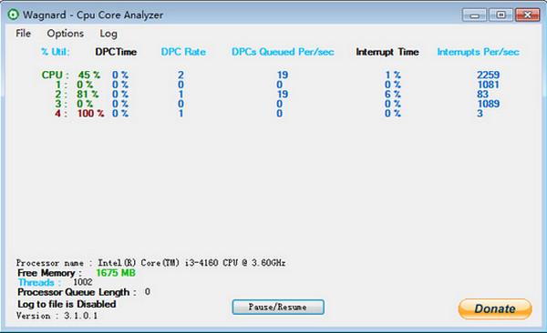 CPU内核分析软件(CPU Core Analyzer)截图1
