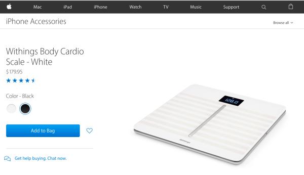 苹果下架诺基亚子公司Withings所有智能设备