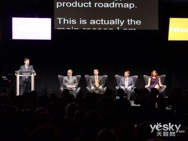 海信CES正式发布全世界首台双色4K激光电视