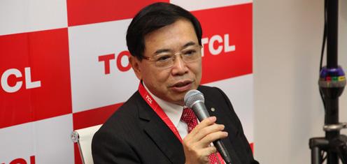 CEO李东生:海外消费者越来越多认同TCL品牌