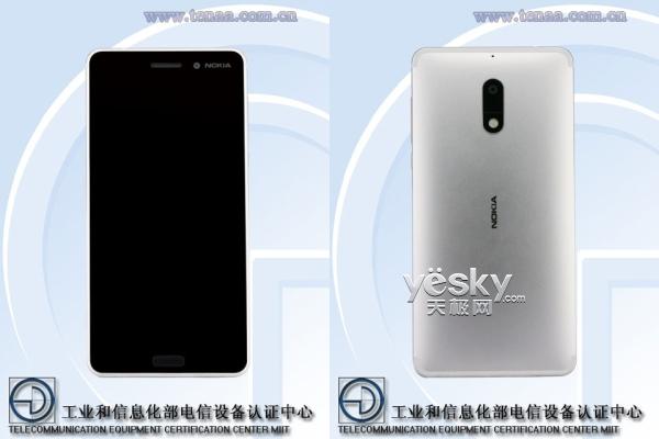 Nokia 6银色版手机入网 国行版今日发布