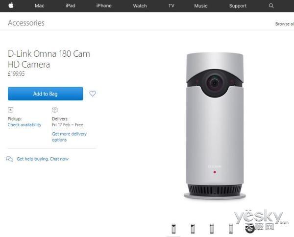 1371元D-Link新款摄像头上市:兼容HomeKit