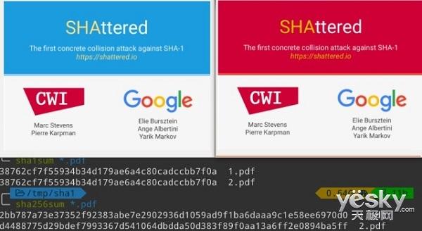 谷歌攻破SHA-1加密:哈希值可与PDF文件冲突