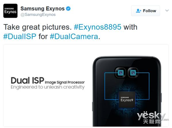 Exynos 9广告暗示新款Galaxy手机支持双摄