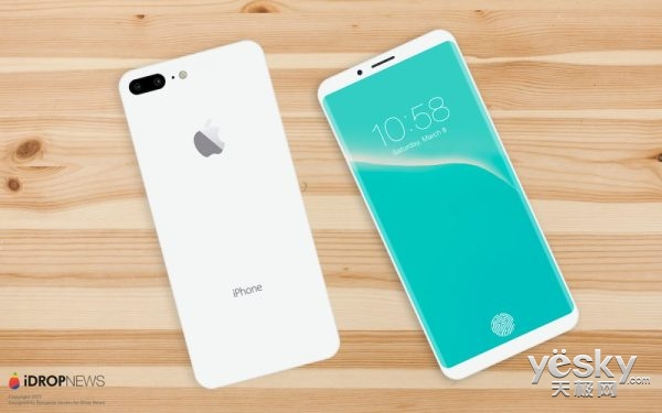 iPhone8就长这样 超高屏占比/全玻璃机身