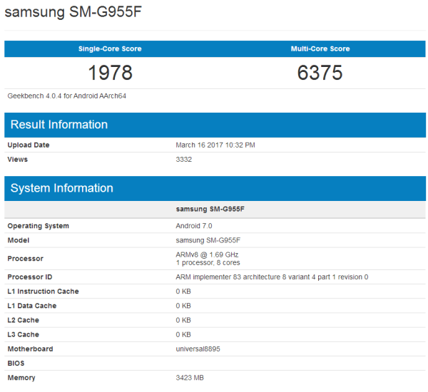 三星S8 Exynos 8895版性能高于骁龙835版