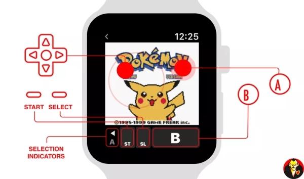 Apple Watch 2秒变掌机玩《口袋妖怪 黄》
