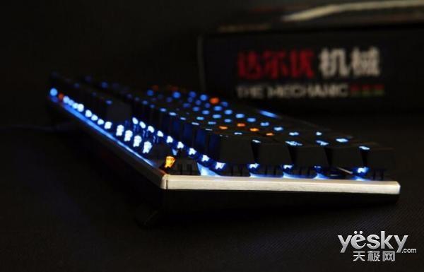 背光LED明暗可调 达尔优87键机械合金版热销