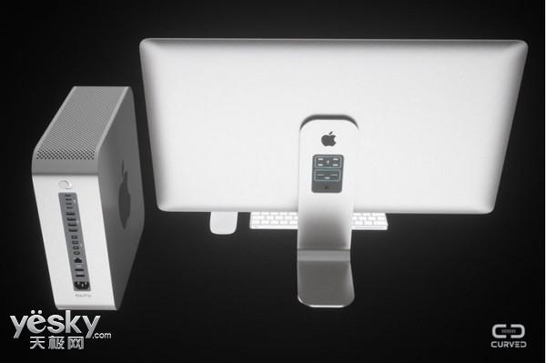 苹果模块化Mac Pro曝光!外接显示器超震撼