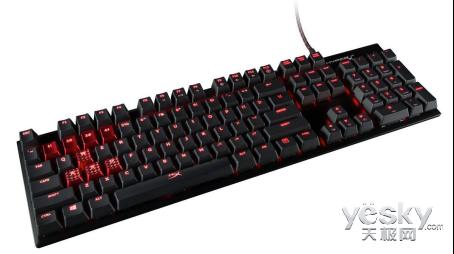 玩游戏建议选购青轴 推荐HyperX Alloy键盘