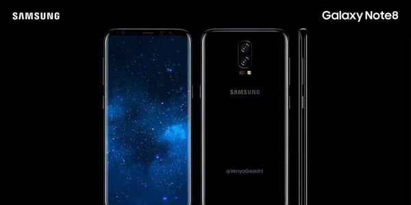 每日IT极热 三星Galaxy Note 8概念图曝光