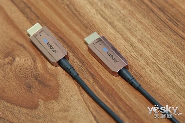 抢鲜看:开博尔光纤HDMI线华丽开箱