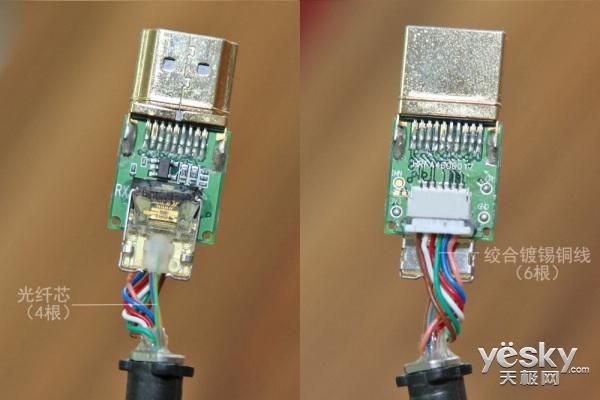 拆一猜:开博尔25米光纤HDMI线值不值这个价?