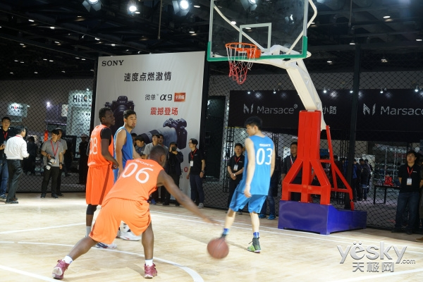 P&E2017:现场篮球表演实拍 索尼微单A9试用