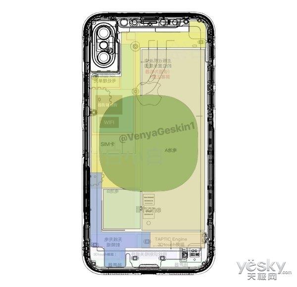 垂直双摄!iPhone8模具曝光:屏幕指纹有戏