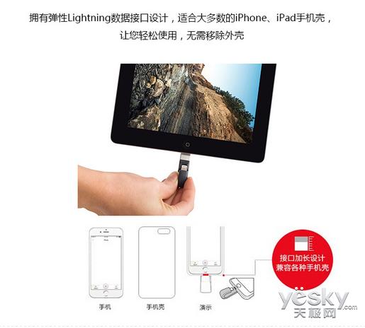 完美辅助苹果 闪迪欢欣i享闪存盘 128G售699