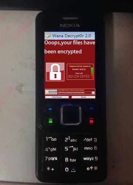 说明: Wana Decrypt0r 2.0 Ooops,your files have been encrypted IEåS2 4 'ghi 21 abc s -•jkl 8 tuv o 2 'def 3 mno 6 wxyz 9
