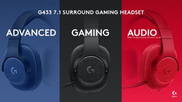 罗技发布G433/G233游戏耳机 主打轻便时尚