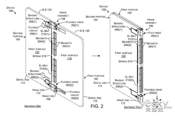 微软新专利曝光:360°可折叠Windows 10设备