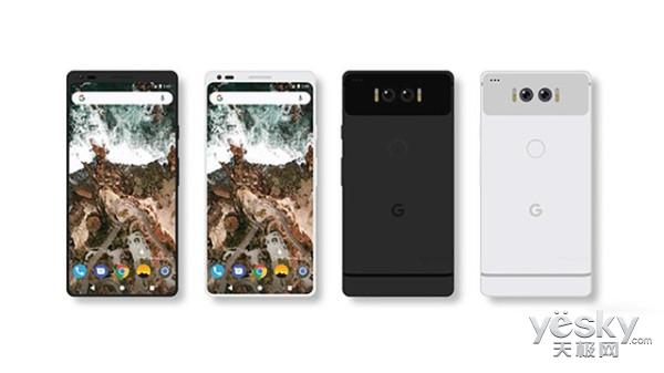 谷歌Pixel 2概念渲染图曝光:全面屏+骁龙835