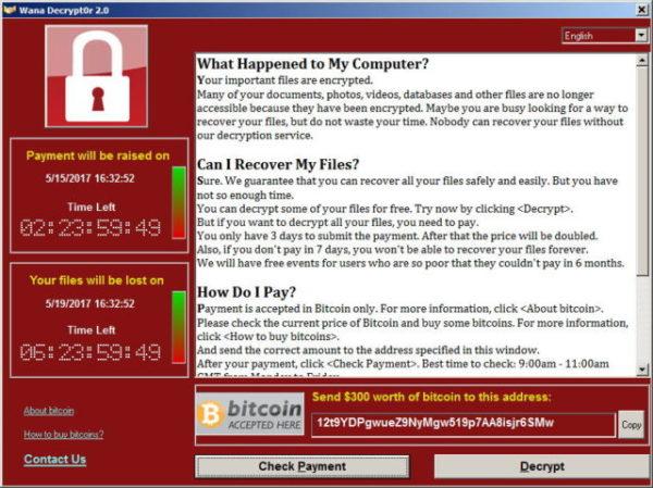 英国情报机构称勒索病毒是朝鲜散播的