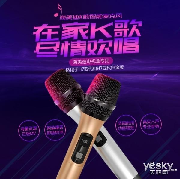 家庭KTV!海美迪K歌专用麦京东仅售499元